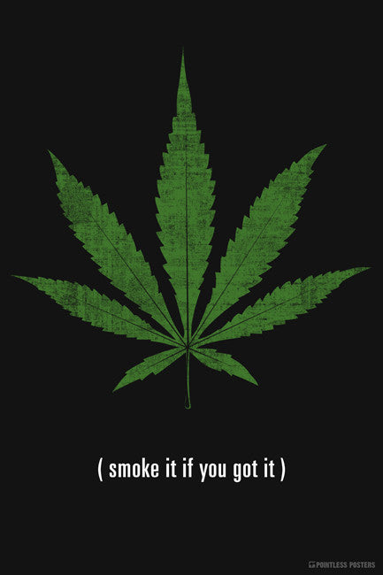 Smoke It If You Got It Marijuana Poster