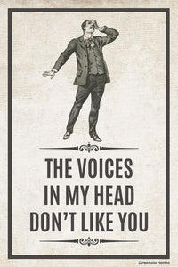 The Voices In My Head Don't Like You Poster