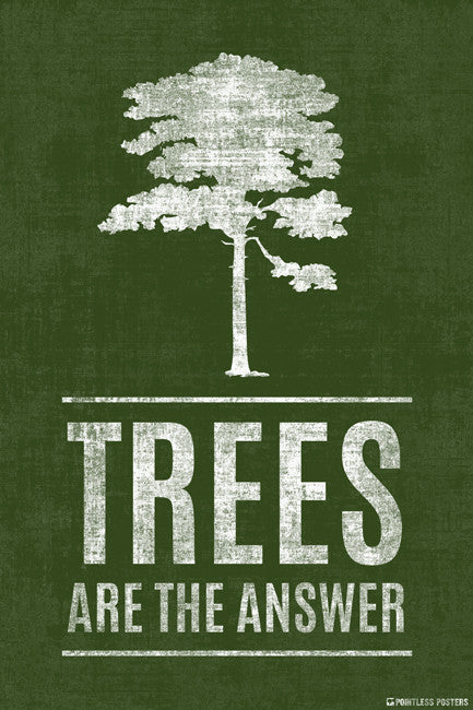 Trees Are The Answer Poster