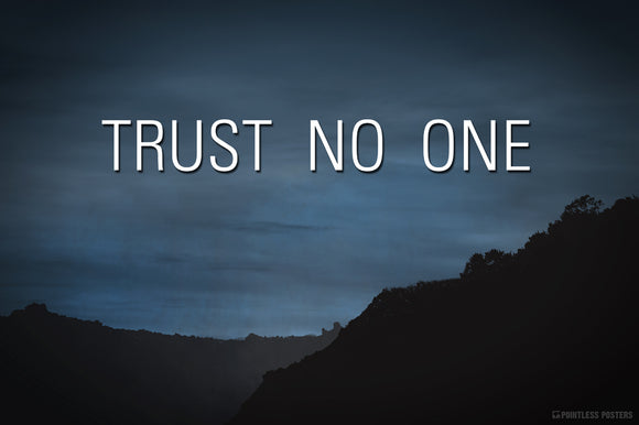 X-Files Trust No One Poster