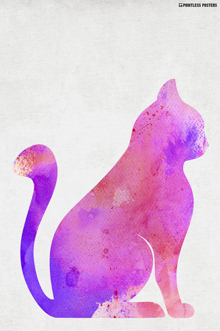 Watercolor Cat Poster
