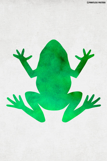 Watercolor Frog Poster