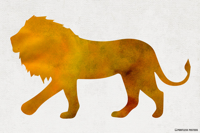 Watercolor Lion Poster