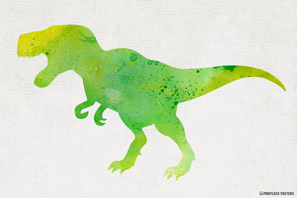 Watercolor T-Rex Poster