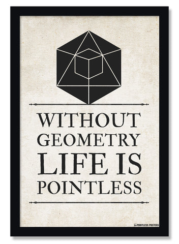 Without Geometry Life Is Pointless Math Poster
