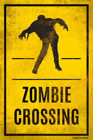 Zombie Crossing Poster