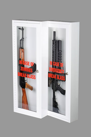 ... Zombie | Emergency Break Glass Gun Cabinet | Display Case | Wall  Mountable ...
