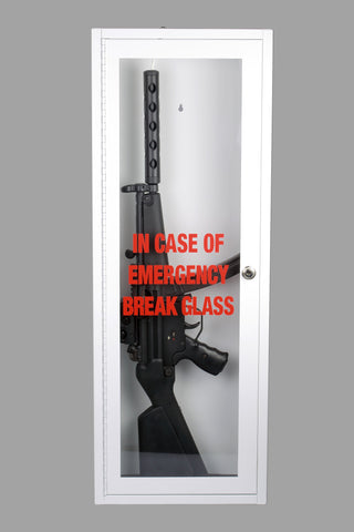 Zombie Emergency Break Glass Gun Cabinet Display Case