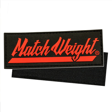 Match Weight Raised Rubber Velcro Patch
