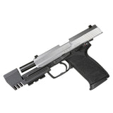 HK USP FULL SIZE (HECKLER & KOCH) 9MM / .45MM / .40MM MATCH WEIGHT ALUMINUM COMPENSATOR WITH OR WITHOUT PICATINNY RAIL