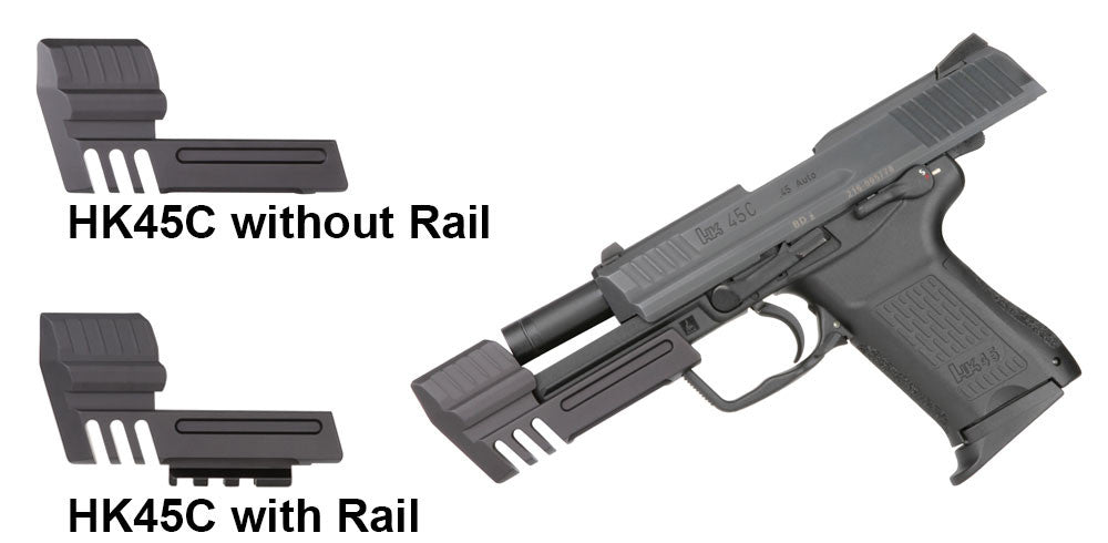 HK45C (HECKLER & KOCH) ALUMINUM COMPENSATOR WITH OR WITHOUT PICATINNY RAIL