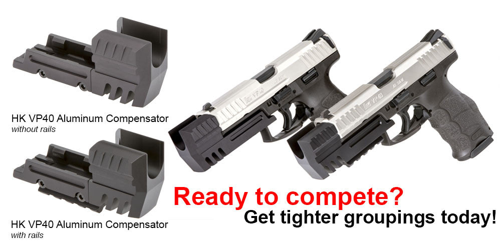 HKVP40 (HECKLER & KOCH) ALUMINUM COMPENSATOR WITH OR WITHOUT PICATINNY RAIL