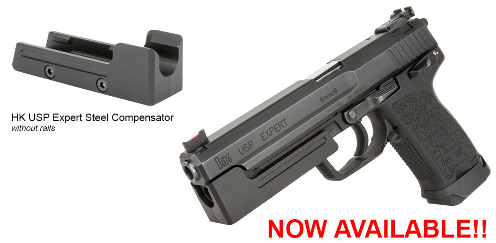 HK USP EXPERT .45 and 9mm Steel Compensators