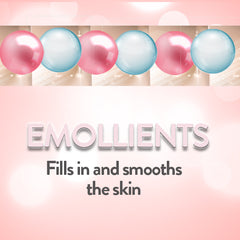 Emollients fill in and smooth the skin