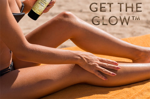 GET THE GLOW™ WITH GLIMMER GODDESS® ORGANIC SELF TANNERS & BRONZERS