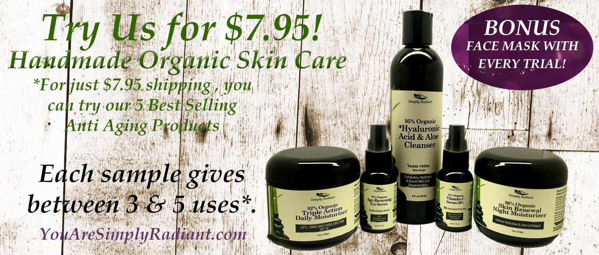 FREE ORGANIC SKIN CARE ANTI AGING ESSENTIALS KIT