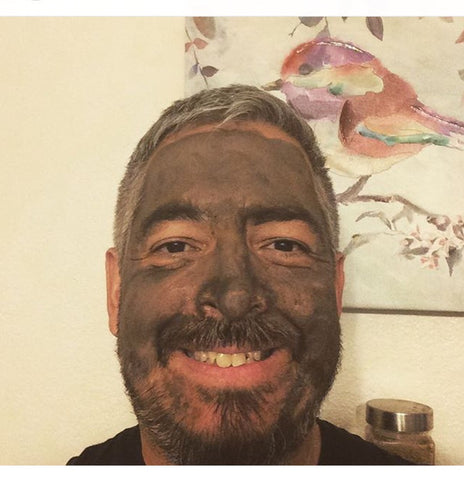 Organic Dead Sea Mud Mask With Aztec Clay - Exfoliate & Rejuvenate - Glimmer Goddess® Organic Skin Care
