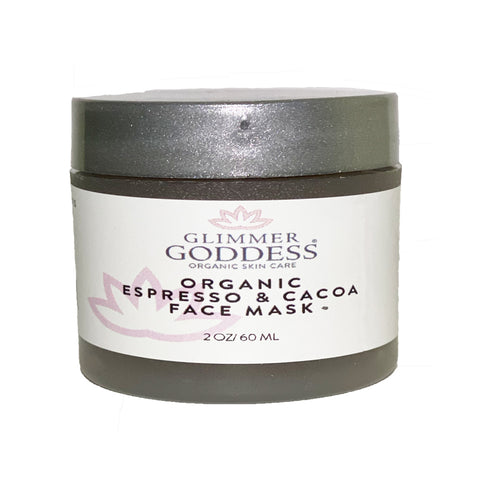 Image of Organic Espresso Cacoa Face Mask Decrease Puffiness & Brighten Complexion - Glimmer Goddess® Organic Skin Care