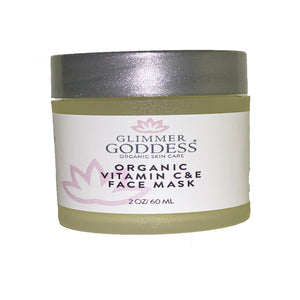 Organic Vitamin C & E Brightening & Tightening Face Mask - Glimmer Goddess® Organic Skin Care