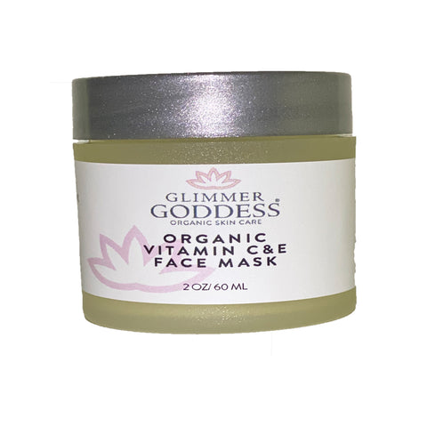 Image of Organic Vitamin C & E Brightening & Tightening Face Mask - Glimmer Goddess® Organic Skin Care