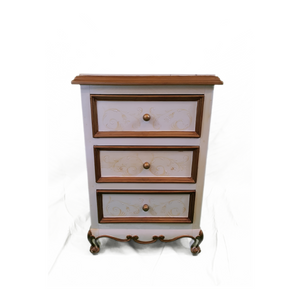 Hand Painted French Scroll Nightstand