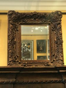 Small Gold Ornate Frame Mirror
