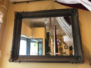 Large Frame Dark Gold Mirror