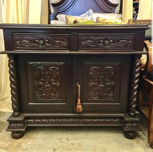 2 Door Carved Cabinet