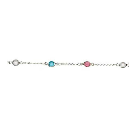 Circle Bead On Silver Plated Chain Anklet - Free As A Bird Jewelry