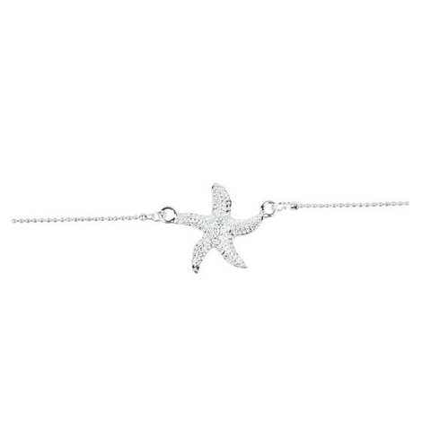 Textured Starfish Anklet - Free As A Bird Jewelry