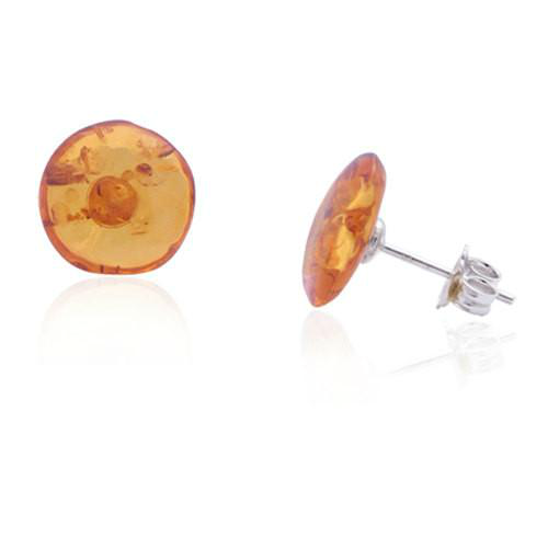 Amber Stud Earrings - Free As A Bird Jewelry