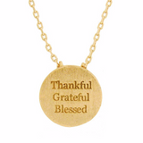 Thankful Grateful Blessed Necklace - Free As A Bird Jewelry