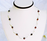 Silver Bar & Black Pearl Necklace - Free As A Bird Jewelry