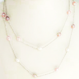 Tri Colored Pearl Necklace - Free As A Bird Jewelry