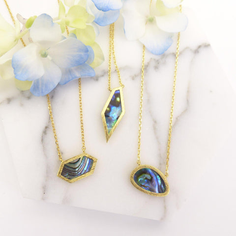 Abalone Skinny Necklace - Free As A Bird Jewelry