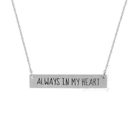 Always in my heart Necklace - Free As A Bird Jewelry