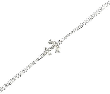 Sideways Anchor Anklet - Free As A Bird Jewelry