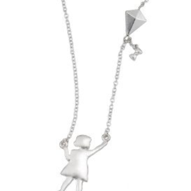 Child Flying Kite Necklace - Free As A Bird Jewelry