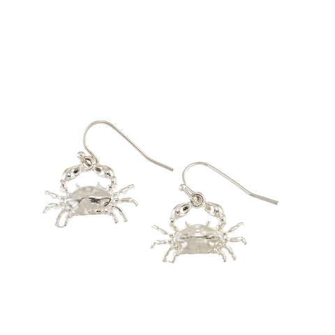 Silver Crab Earrings - Free As A Bird Jewelry