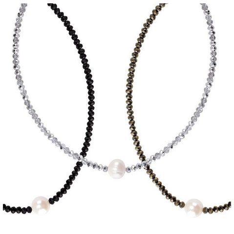 Crystal Pearl Choker - Free As A Bird Jewelry