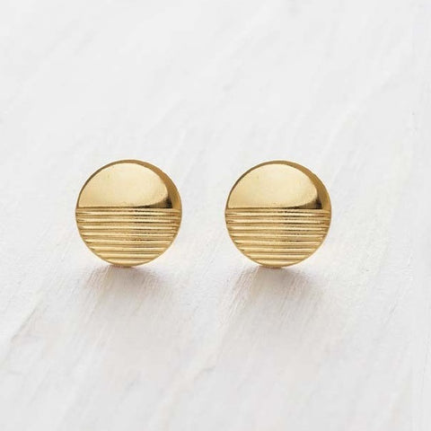 Gold Horizon Post Earrings