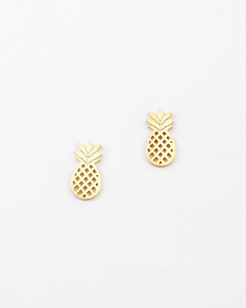 Pineapple Stud Earrings - Free As A Bird Jewelry