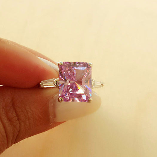 Silver Amethyst Ring - Free As A Bird Jewelry