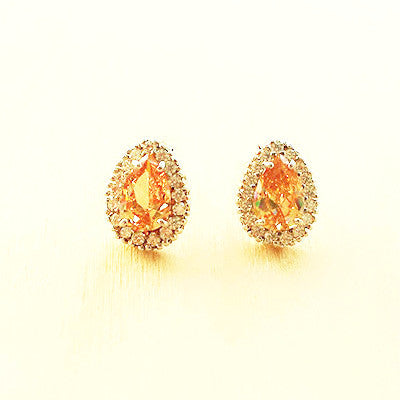 Rhinestone Teardrop Stud Earrings - Free As A Bird Jewelry