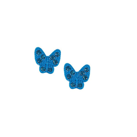 Blue Butterfly Stud Earrings - Free As A Bird Jewelry