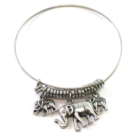 Elephant Family Charm Bracelet - Free As A Bird Jewelry