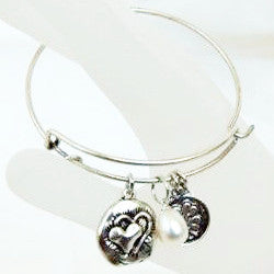 Heart And Pearl Bracelet - Free As A Bird Jewelry