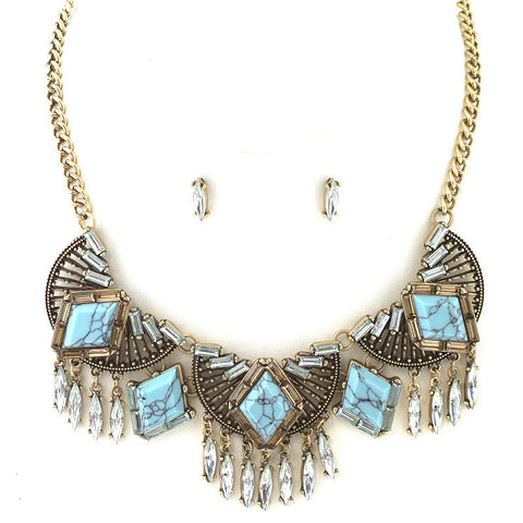 Bohemian Empire Statement Necklace - Free As A Bird Jewelry