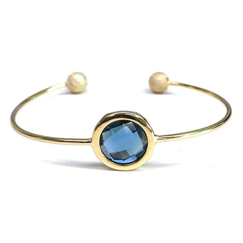 Small Stone cuff bracelet - Free As A Bird Jewelry