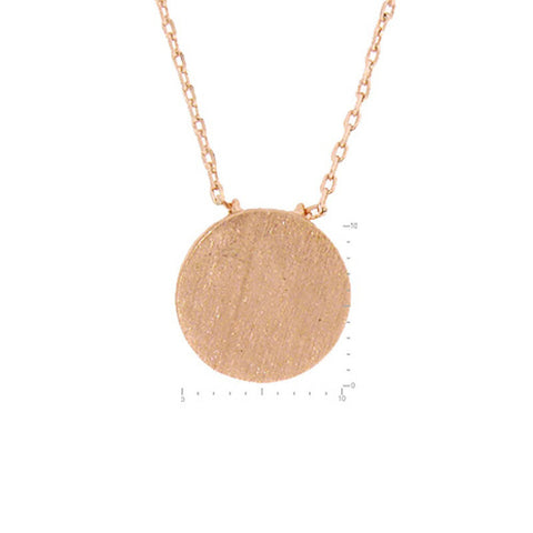 Dainty Rose Gold Disc Necklace